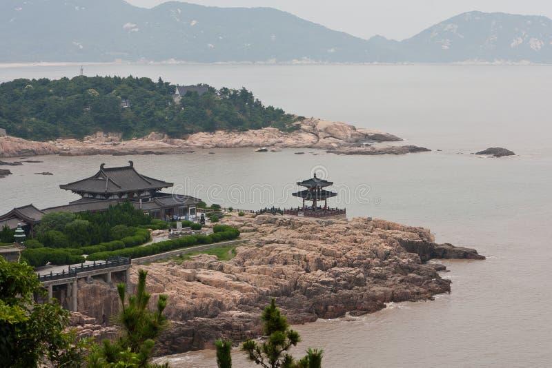 Isola del tempiale di Putuoshan immagini stock libere da diritti
