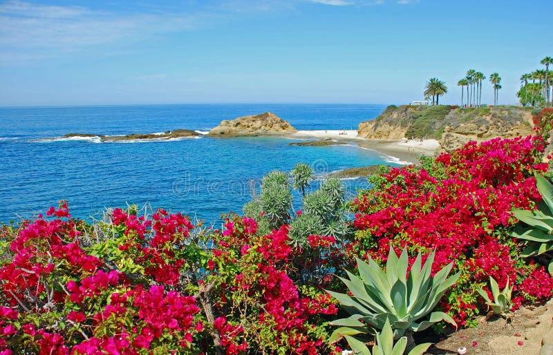 Isola del tesoro vicino alla località di soggiorno del montaggio, Laguna Beach immagini stock libere da diritti