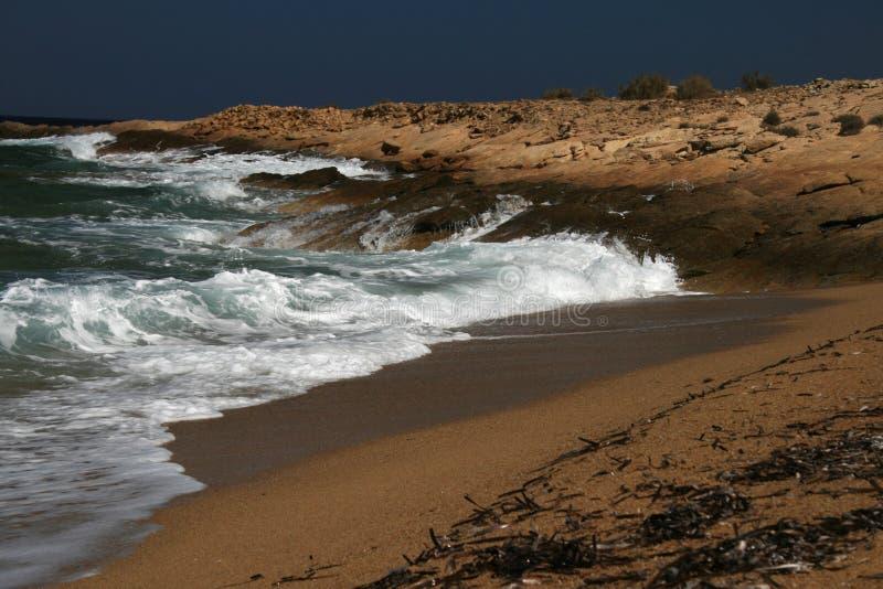 Isola dell'IOS, Grecia, spiaggia fotografia stock