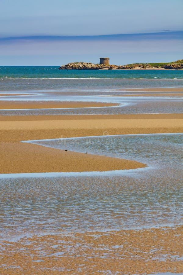 Isola dell'occhio dell'Irlanda sulla costa Est dell'Irlanda immagine stock libera da diritti
