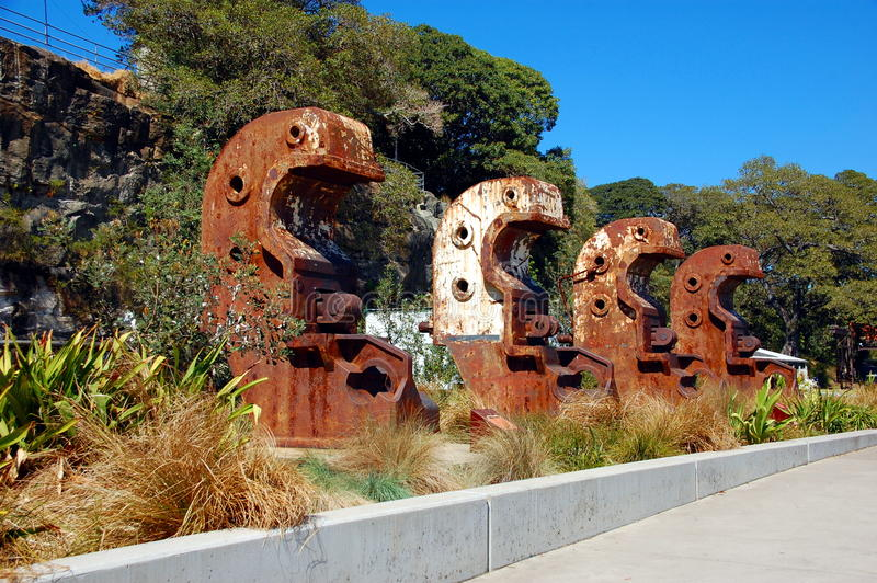 Isola della cacatua, Sydney, NSW, Australia. immagini stock