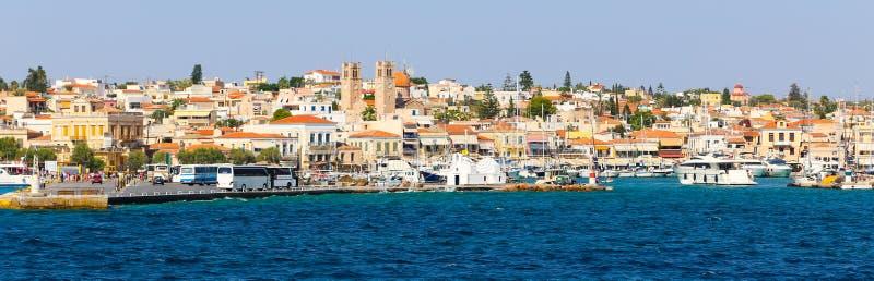 Isola della Grecia - panorama immagini stock libere da diritti