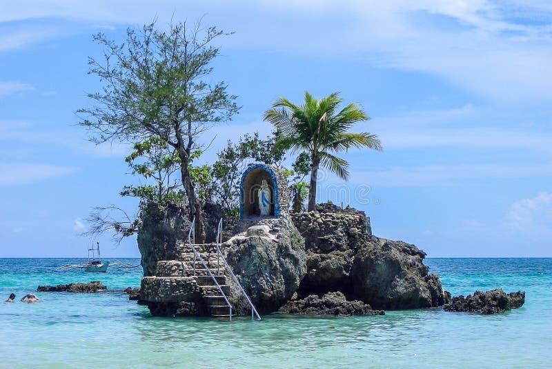 Isola della spiaggia di Boracay fotografie stock libere da diritti