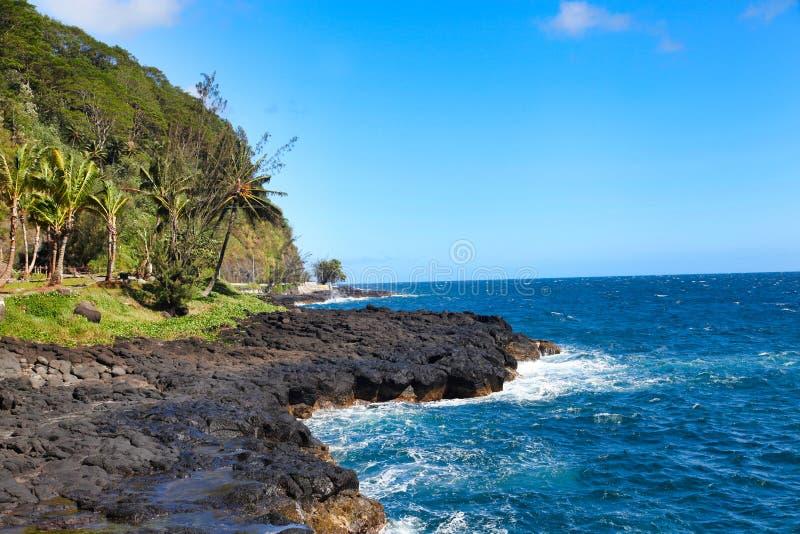 Isola della Tahiti, Tahiti, Polinesia francese, vicino a Bora-Bora immagini stock