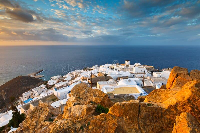 Isola di Anafi fotografia stock libera da diritti