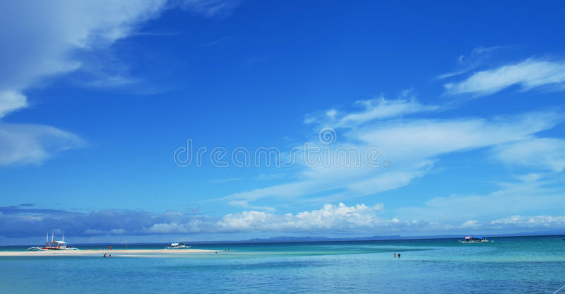 Isola di Bantayan, Cebu, Filippine fotografie stock