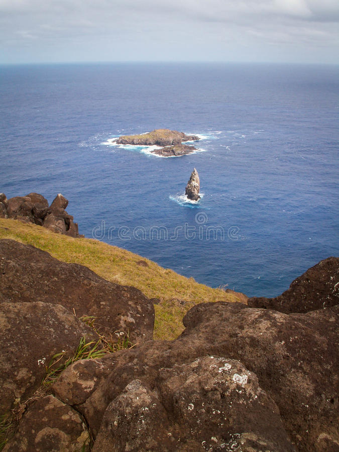 Isola di Birdman dell'isola di pasqua immagine stock libera da diritti