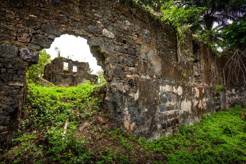 Isola di Bunce, Sierra Leone, Africa occidentale - commercio britannico dello schiavo immagine stock libera da diritti