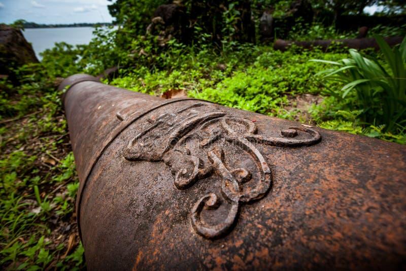 Isola di Bunce, Sierra Leone, Africa occidentale - commercio britannico dello schiavo fotografia stock