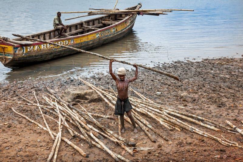 Isola di Bunce, Sierra Leone, Africa occidentale - commercio britannico dello schiavo immagini stock