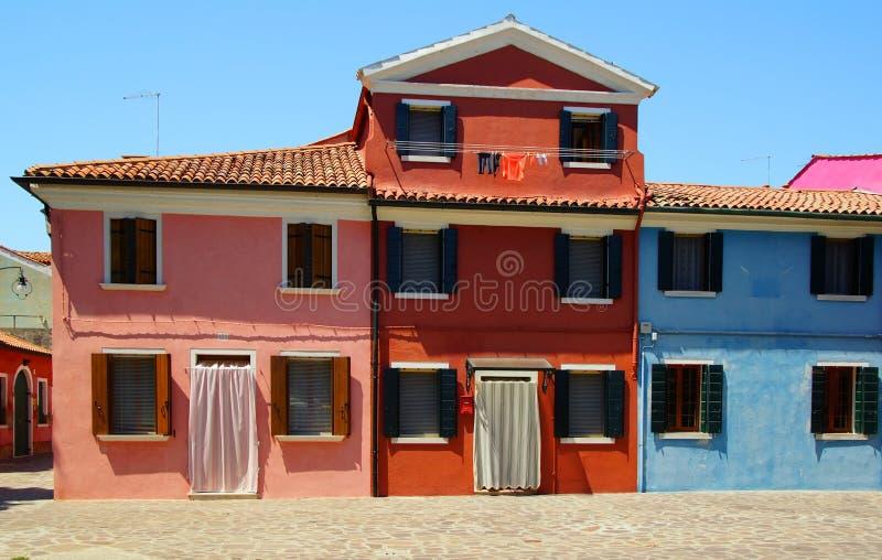 Isola di Burano a Venezia fotografia stock