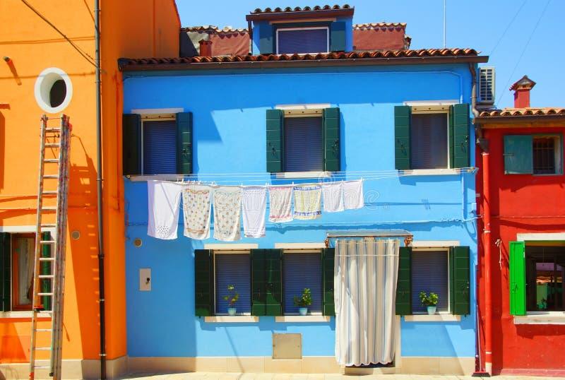 Isola di Burano a Venezia fotografia stock libera da diritti