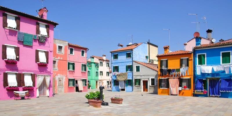 Isola di Burano, Venezia, Italia fotografia stock