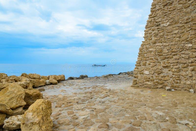 Isola di Capo Rizzuto, la province de Crotone, Calabre, Italie images libres de droits