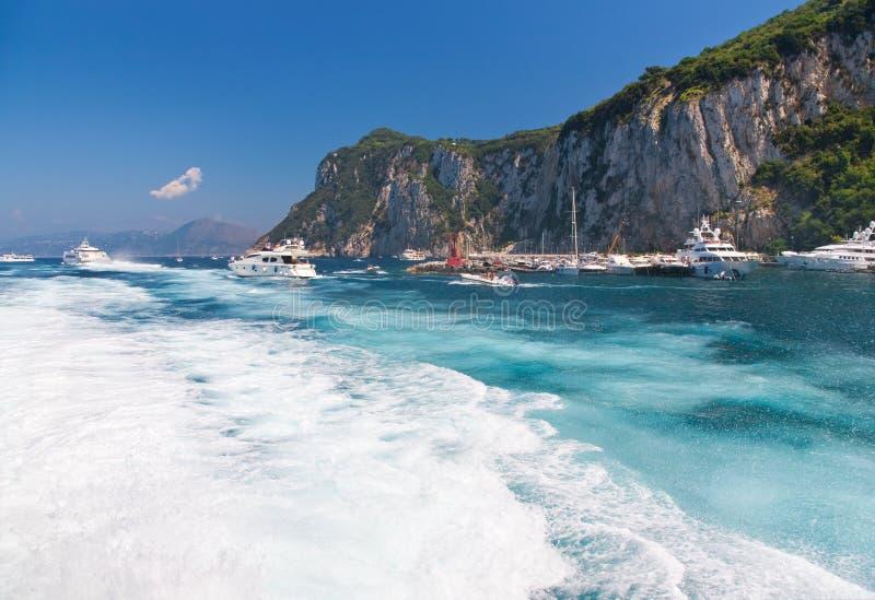 Isola di Capri in Italia immagini stock