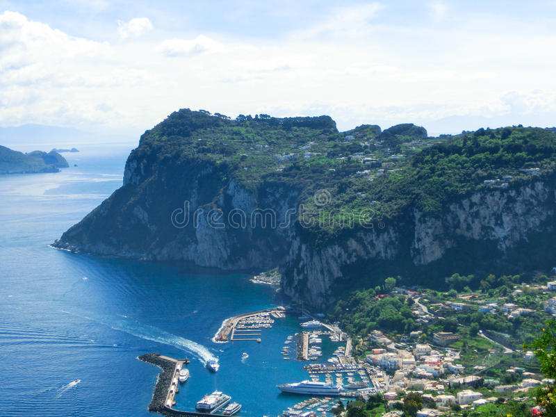 Isola di Capri, Italia, vicino a Napoli fotografia stock libera da diritti