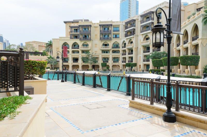Isola di Città Vecchia nel complesso di Burj Khalifa, Dubai fotografie stock libere da diritti