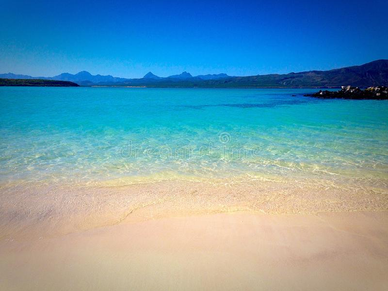 Isola di Coronado fuori da Loreto Bay fotografia stock libera da diritti