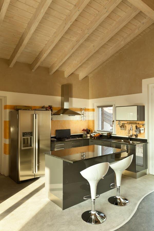 Isola di cucina con due sgabelli fotografia stock immagine di moderno alloggiamento 23005342 - Sgabelli per isola cucina ...
