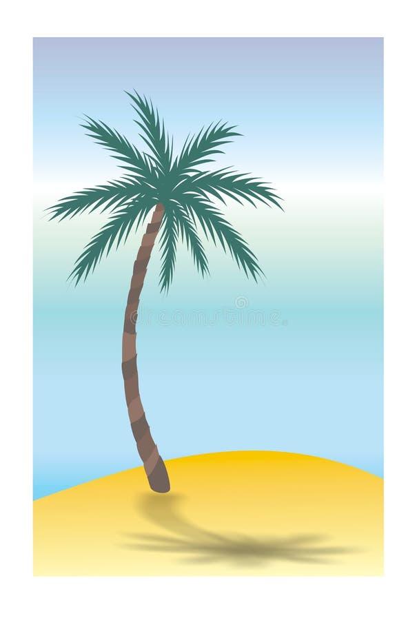 Isola di deserto royalty illustrazione gratis