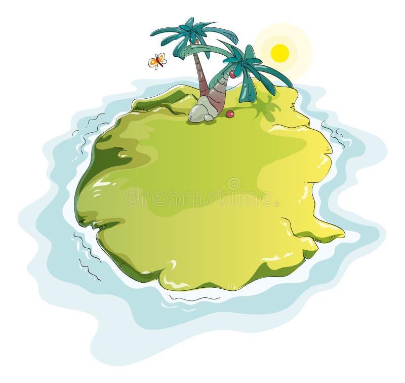 Isola di deserto divertente illustrazione vettoriale