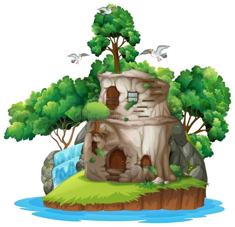 Isola di fantasia illustrazione vettoriale