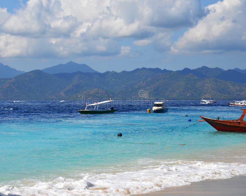Isola di Gili, Indonesia fotografie stock