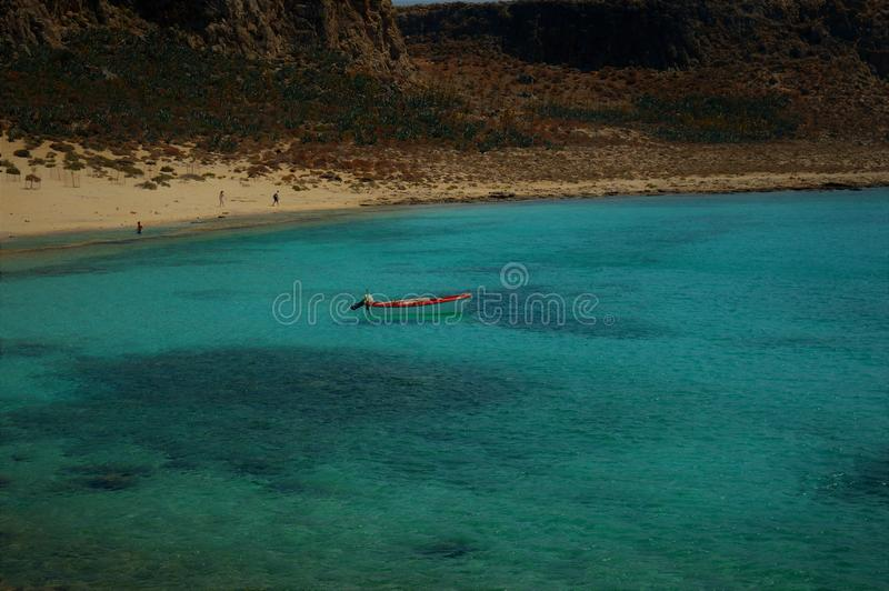 Isola di Gramvousa - barca fotografia stock