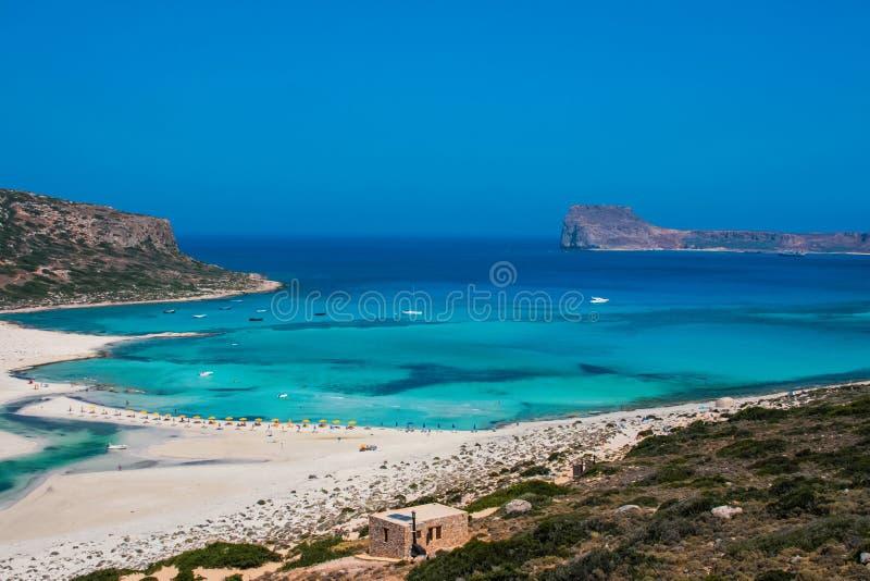 Isola di Gramvousa e laguna di Balos su Creta fotografie stock libere da diritti