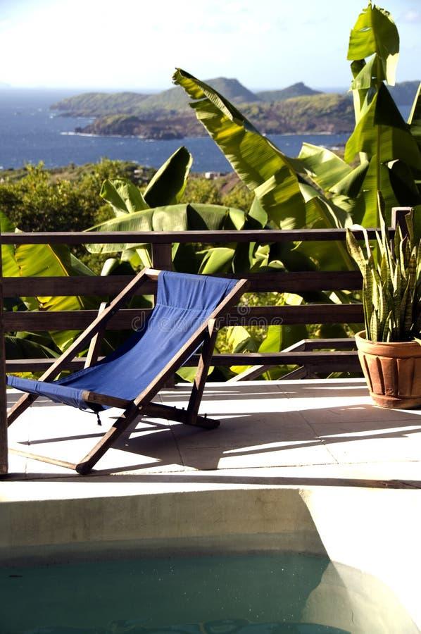Isola di grenadine di vista del raggruppamento della villa della Bequia fotografie stock