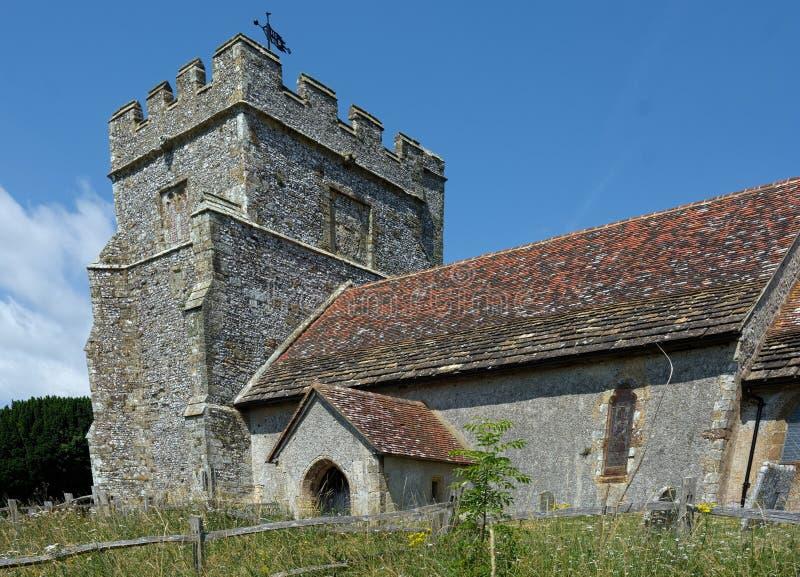 Isola di Hamsey, la chiesa di peste, vicino a Lewes, Sussex, Regno Unito immagini stock libere da diritti