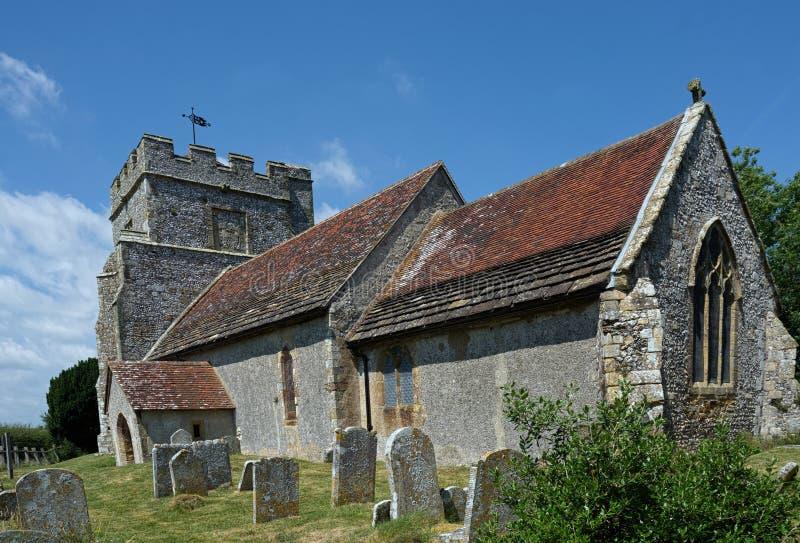 Isola di Hamsey, la chiesa di peste, vicino a Lewes, Sussex, Regno Unito immagine stock libera da diritti