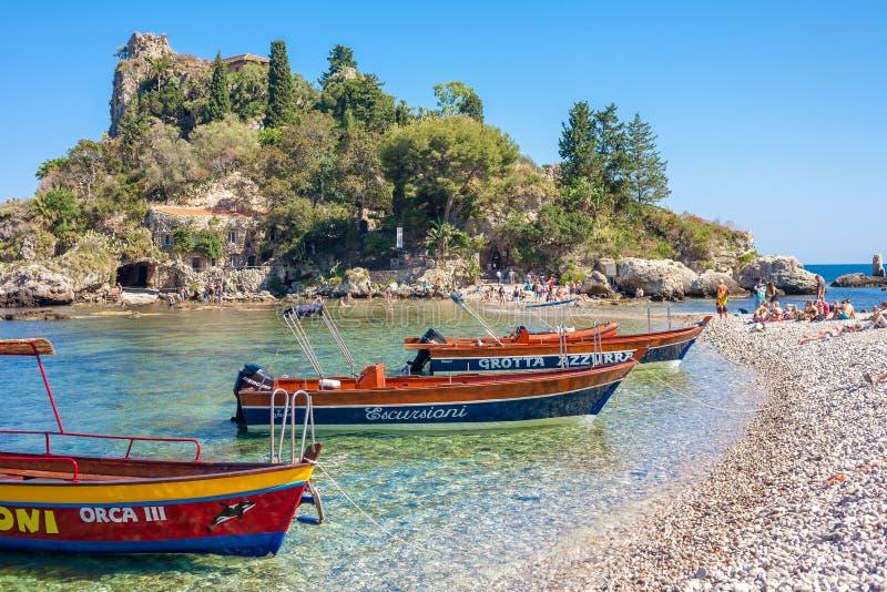 Isola di Isola Bella in Taormina fotografia stock