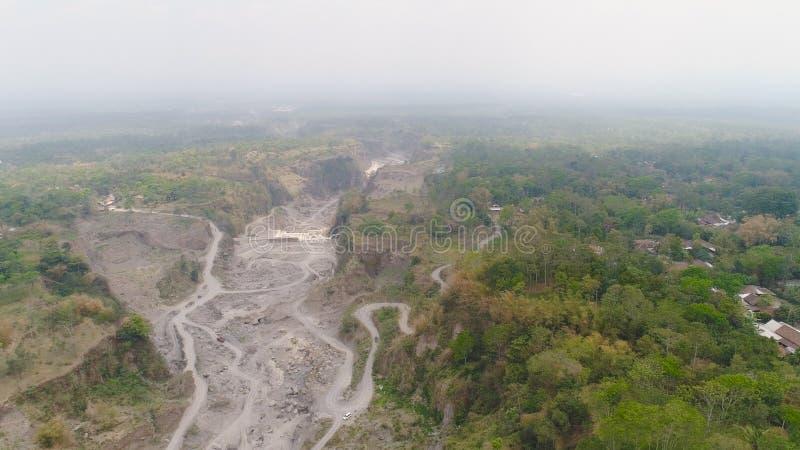 Isola di Jawa del paesaggio della montagna, Indonesia fotografia stock