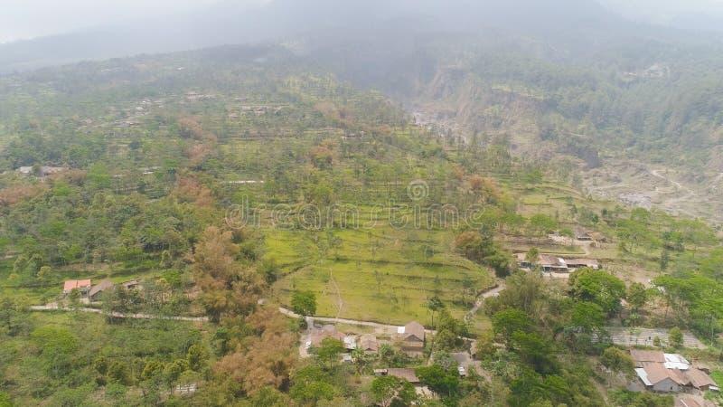 Isola di Jawa del paesaggio della montagna, Indonesia immagine stock
