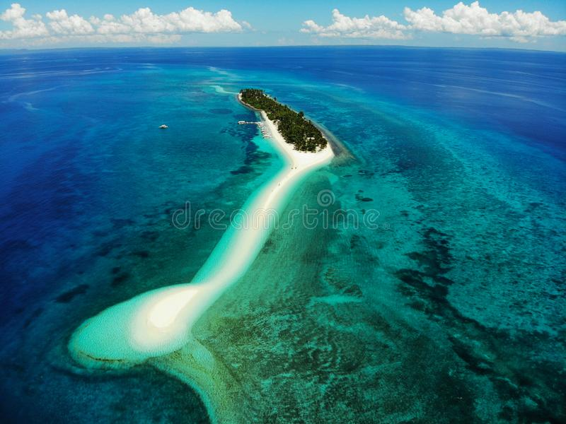 Isola di Kalanggaman da sopra - le Filippine fotografie stock