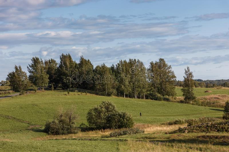 Isola di Kizhi, Petrozavodsk, Carelia, Federazione Russa - 20 agosto 2018: Architettura piega e la storia della costruzione o fotografia stock libera da diritti