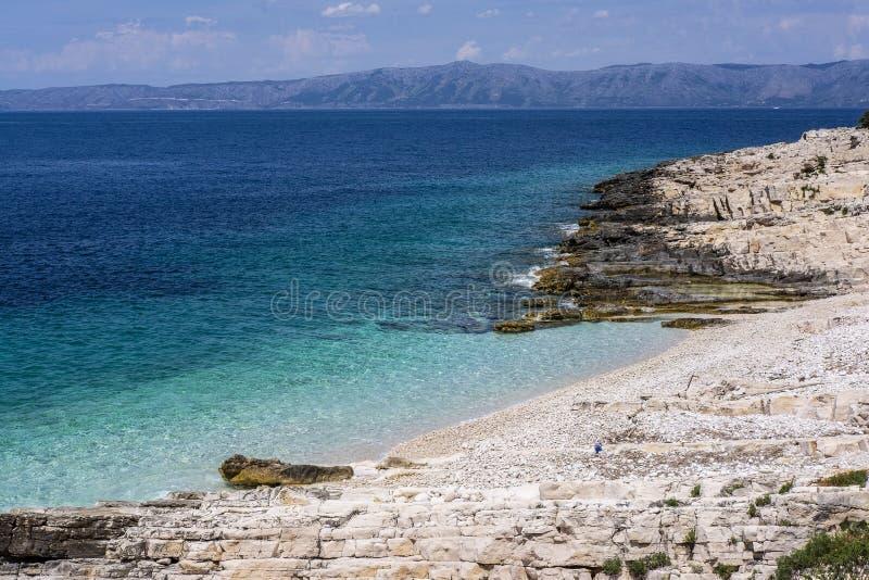 Isola di Korcula, Dalmazia Croazia immagine stock
