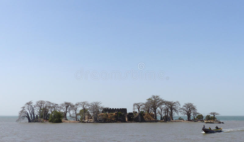 Isola di Kunta Kinteh immagine stock