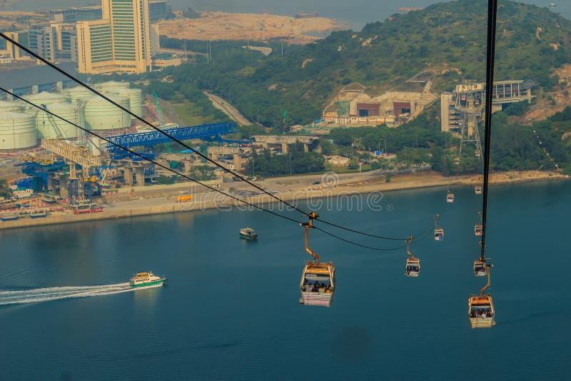Isola di Lantau, Hong Kong - 14 novembre 2014: Bella vista per fotografia stock libera da diritti