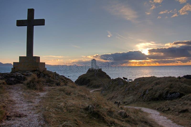 Isola di Llandwyn fotografie stock