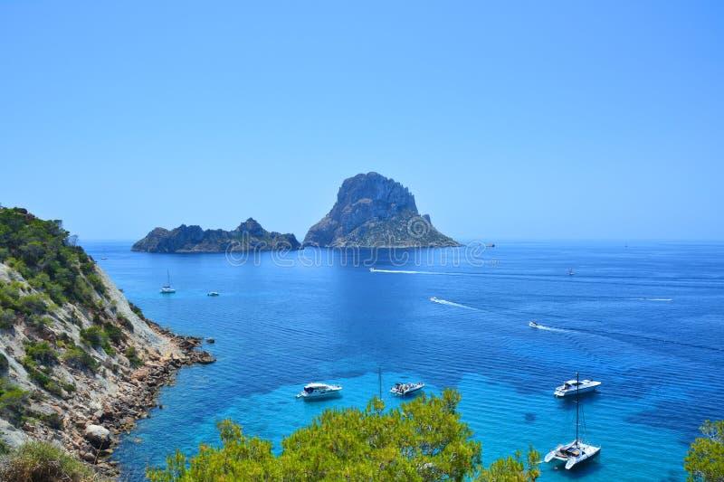 Isola di mistero di es Vedra di Ibiza fotografia stock libera da diritti