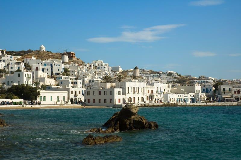 Isola di Mykonos fotografie stock libere da diritti