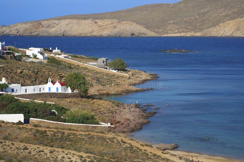 Isola di Mykonos - della Grecia fotografia stock