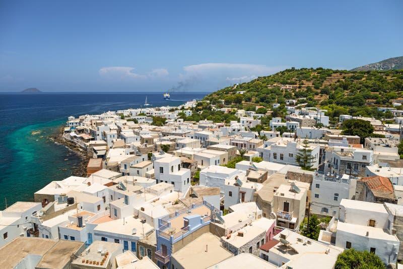 Isola di Nisyros, Grecia fotografia stock