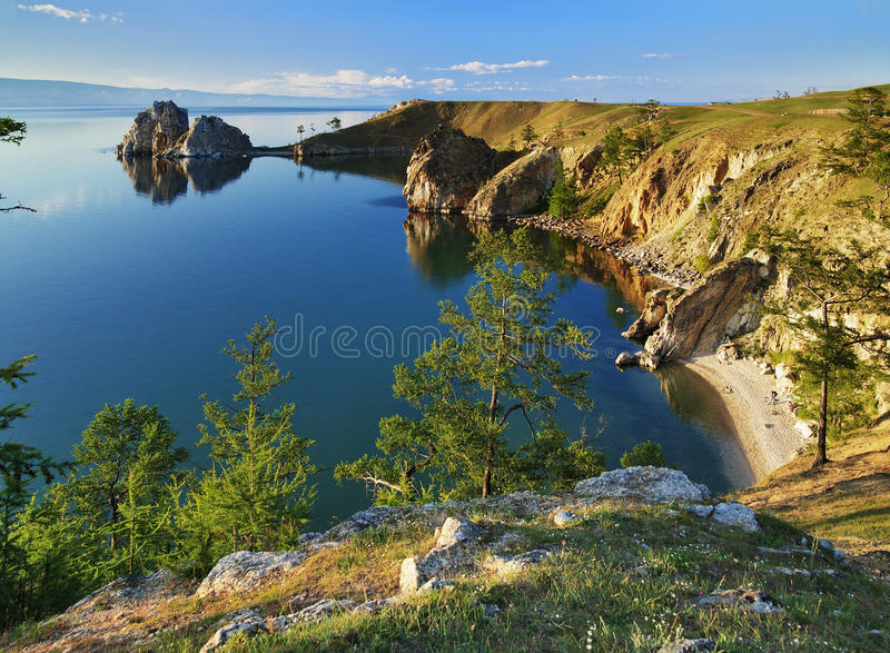Isola di Olkhon nel lago Baikal fotografia stock