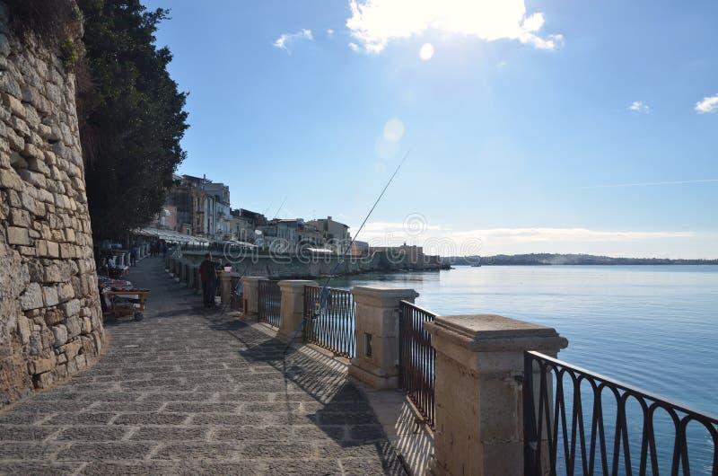 Isola di Ortigia a Siracusa, Sicilia immagine stock libera da diritti
