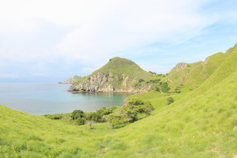 Isola di Padar, Flores, Indonesia immagine stock libera da diritti