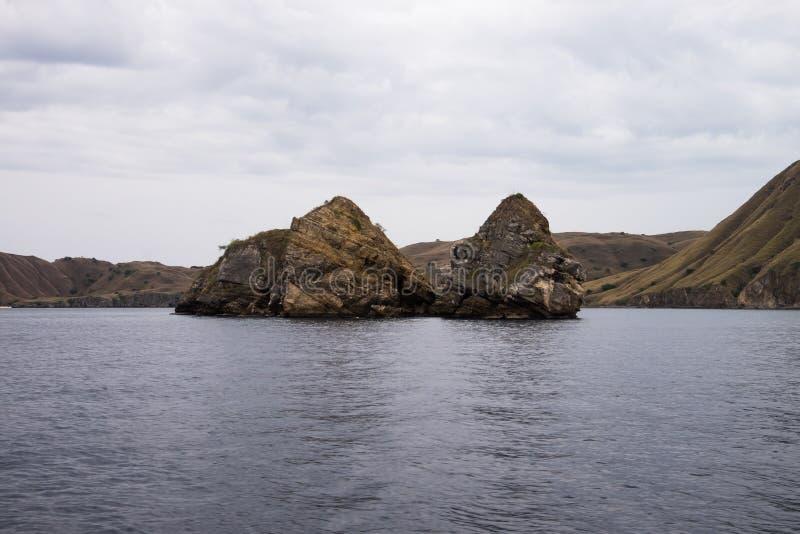 Isola di Padar in Labuan Bajo, Flores Indonesia immagini stock