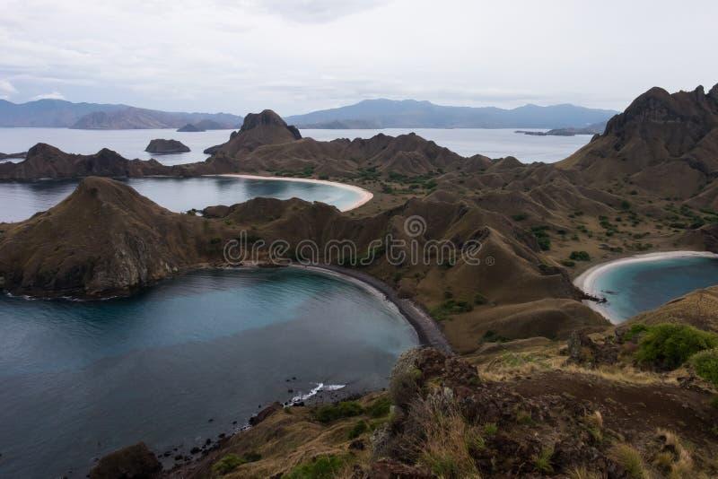 Isola di Padar in Labuan Bajo, Flores Indonesia fotografia stock